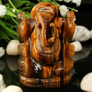 Tiger Eye Ganesha - 132 gms