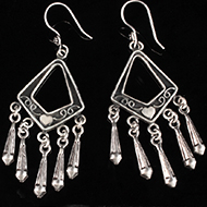 Earrings in Silver - Design VI