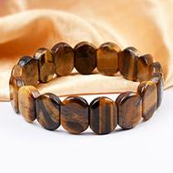 Tiger Eye Bracelet - Oval Beads
