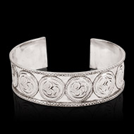 Om Bracelet in pure silver - Design III