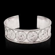 Om Bracelet in pure silver - Design III