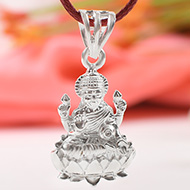 Mahalakshmi Locket in pure silver - Design II