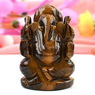 Tiger Eye Ganesha - 113 gms