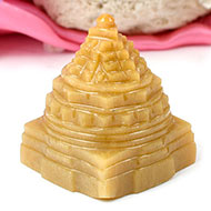 Yellow Jade Shree Yantra - 132 gms