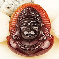 Hanuman in Gomed - 27.60 Carats