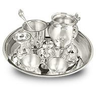 Royal Puja Thali in pure silver - Big
