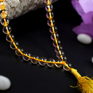 Yellow Citrine rosary - 8 mm