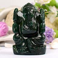 Green Jade Ganesha - 126 gms - I