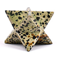 Star Pyramid in White Snowflake Obsidian - 147 gms