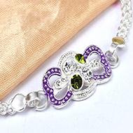Pure silver Rakhi - Design XX