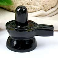Black Agate Shivling - 89 gms