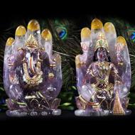 Divine Laxmi Ganesh on hand figurine in Ameth..