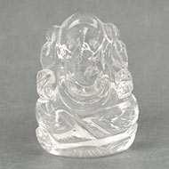 Ganesh Idol in pure quartz - 67 gms