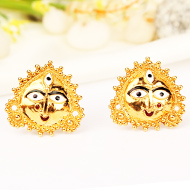 Durga Earrings in pure Gold