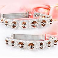 Indrakshi bracelet in silver - Design IV