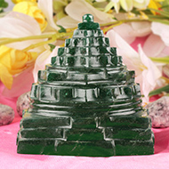 Green Jade Shree Yantra - 342 gms
