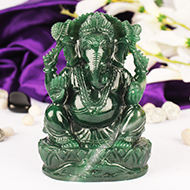 Ganesha in Columbian Green Jade - 1.234 Kgs
