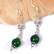 Green Agate Earring