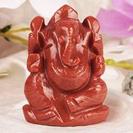 Red Jade Ganesha - 110 gms