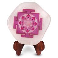 Shree Laxmi Yantra on Rose Quartz