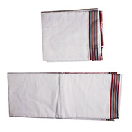 Puja Dhoti with Shawl-Rich Cotton - Multi color Border