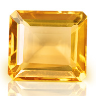Yellow Citrine - 6.25 carats - Emerald