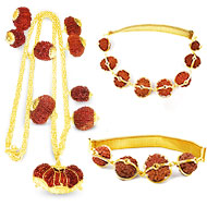 Indrakshi Combination in gold- Nepal beads- RRST