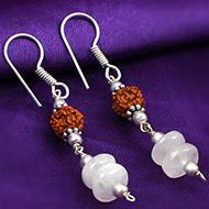 Rudraksha Moonstone Earrings - I