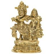 Radhe Krishna in Brass