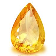 Yellow Citrine - 15.65 Carats - Pear