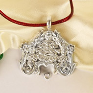 Lakshmi Locket in Pure Silver - 21.50 gms