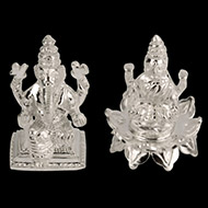 Lakshmi Ganesh in Pure Silver - I