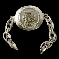 Shree Mahalakshmi Yantra Silver Bracelet