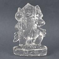 Hanuman crystal statue - 143 gms