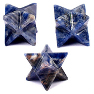 Star Pyramid in Blue Sodalite - Set of 3