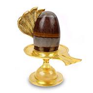 Brass Yoni base with Narmada Shivling - XXIII