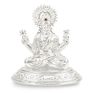 Maha Laxmi in pure silver