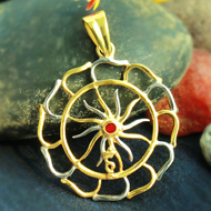 Gold Plated Surya Locket  - I