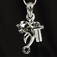 Ganesh Locket in Pure Silver - CII