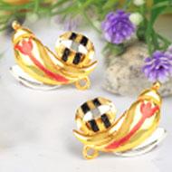 Gold Plated Ganesh Earrings