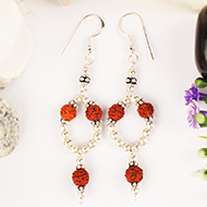 Earrings of Rudraksha Beads - Design I