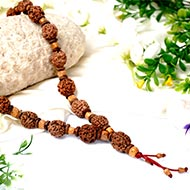 3 mukhi Mahajwala mala - 27+1 beads - Design II