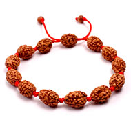 3 mukhi Mahajwala bracelet from Java in silk thread
