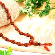 3 mukhi Mahajwala mala with Carnelian beads