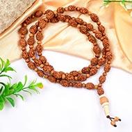 3 mukhi Mahajwala mala with White Sandalwood beads