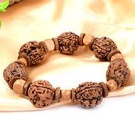 3 Mukhi Nepal Rudraksha beads bracelet - I