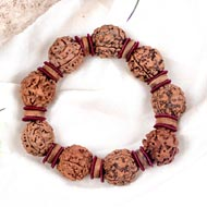 3 Mukhi Nepal Rudraksha beads bracelet - II