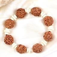3 Mukhi Nepal Rudraksha beads bracelet - III