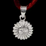 Surya Locket in Pure Silv