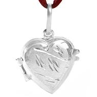 Heart Locket - in Pure Silver - Design VI